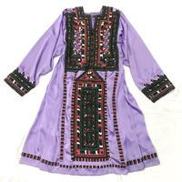 パキスタンヴィンテージ バロチ刺繍ドレス(PURPLE)[7001]