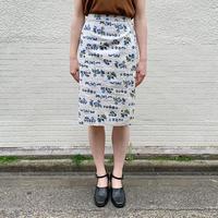 1950'S VINTAGEバタフライ×ボタニカル柄スカート[9277]