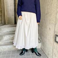 EURO vintage ベージュ クロシェレース ペチコートスカート[9793]