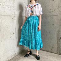 メキシコ グラデーションカラーお花刺繍 コットントップス[9518]