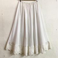 EURO vintage ペチコートスカート(WHITE)[7470]
