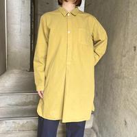 Swedish type グランパシャツ(yellow overdyed)[8605]