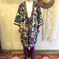 ウズベキスタンVINTAGE スザニ刺繍ガウン [9096]