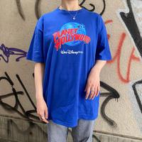 """""""PLANET HOLLYWOOD"""" Walt Disney world ブルー プリントTシャツ[8702]"""