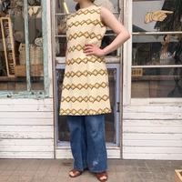 1950'S  VINTAGE毛糸刺繍ノースリーブワンピース[9241]