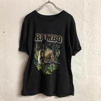 VINTAGE RAMBO 映画Tシャツ(BLACK)[7110]