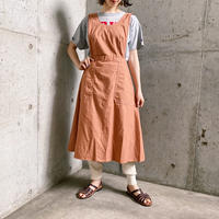Czech military Hospital エプロン (PINK BROWN overdyed)[7832]