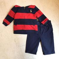 【KIDS】Ralph Lauren ボーダーセットアップ (RED×NAVY) [7457]