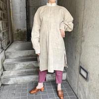 1900〜20's antique 生成り リネン スモックシャツ[2024]