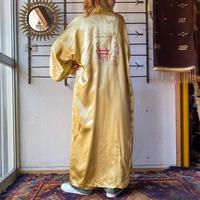 EURO vintage ゴールド 庭園モチーフ チャイナ刺繍ガウン [9194]
