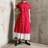 1940's France vintage レディース ワークコート(RED overdyed)[7906]