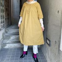 1920's antique コットン ドレス (green overdyed) [9783]