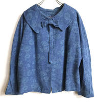 1950'S  VINTAGE リボン付きショート丈ジャケット(BLUE)[7141]