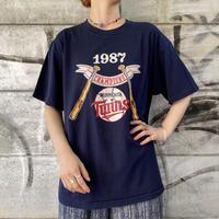 """Champion"" 87's MINNESOTA TWINS ベースボールプリントTシャツ[9082]"