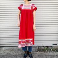 メキシコ刺繍メッシュ切替えワンピース[9263]