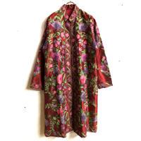 カシミール刺繍ロングジャケット(RED)[7297]
