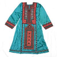 パキスタンヴィンテージバロチ刺繍ドレス(GREEN)[7007]