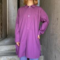 Swedish type グランパシャツ(purple overdyed)[8608]