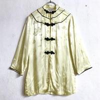 VINTAGE 織り柄シルクチャイナシャツ(YELLOW)[7204]