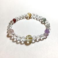 水晶、ルチルクォーツ、天然石ブレスレット