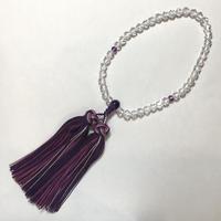 水晶、アメシスト数珠(女性用) No.55133