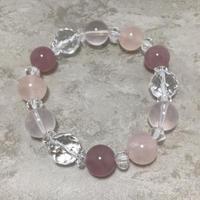 紅水晶、水晶ブレスレット No.18717