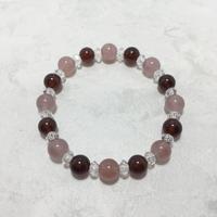 ガーネット、紅水晶、水晶 ブレスレット No.18804