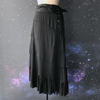 """【受注生産】zechia ティアードロングスカート """"Maria Ley"""" / ブラック"""