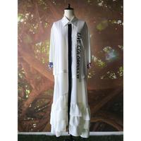 【数量限定】カラフリーロゴ シャツドレス / ホワイト