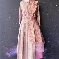 """【受注生産】zechia ハイブリッドワンピース """"Princess Ley"""" / LIBERTY ピンク"""