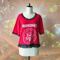 zechia MAKEOVER☆古着風ROCK-T / RAMONES ⑪