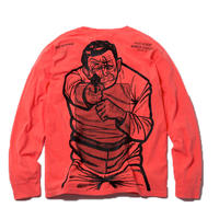 PSYCHO KILLER LONG SLEEVE TSHIRT (NEON ORANGE) : STEPHEN PALLADINO【CC18SS-018】