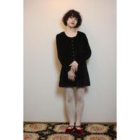 Black velvet with pearl dress