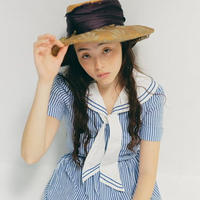 French antique straw hat