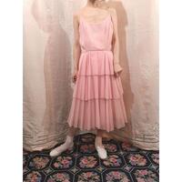 Polka dot pink drill dress