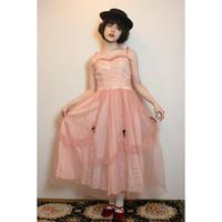 Pink tulle dress velvet ribbons