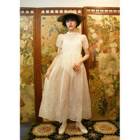 French antique organdy  dress