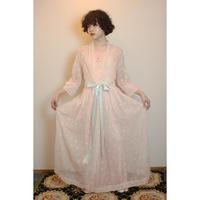 1950-60s nylon eyelet gown