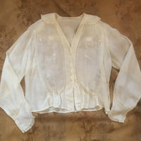Antique cotton blouse (cream)