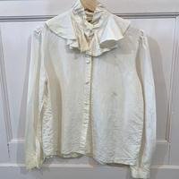 1980s ruffle blouse