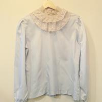 Pale blue lace collar top