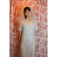 Antique blue cotton flapper dress