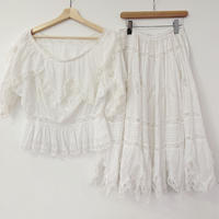 French Antique cotton set up