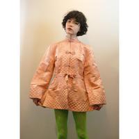 Peach satin Chinese jacket