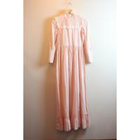 LAURA ASHLEY pink maxi dress