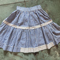 gingham skirt Blue