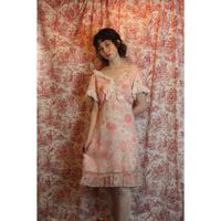 1970s floral mini dress