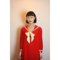 D612 Red Sailor dress