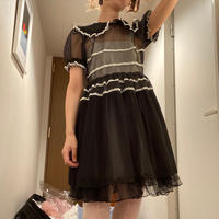 【Pre-oder】nu uniform kids chiffon dress - black ご予約商品