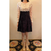 GunneSax lace & velvet dress